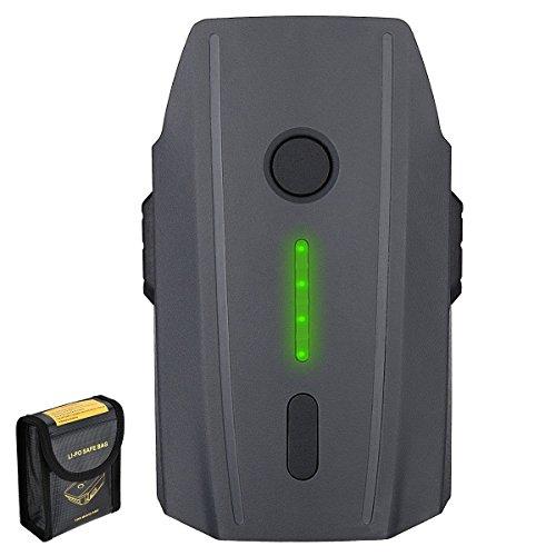 Powerextra Batería Mavic Pro,11.4V 3830 mAh LiPo Batería de Vuelo Inteligente Reemplazo Li-Po Batería Recargable para dji Mavic Pro y Platinum y Drone Blanco Alpino