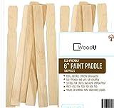 WoodU Wooden Paint Stir Sticks 6