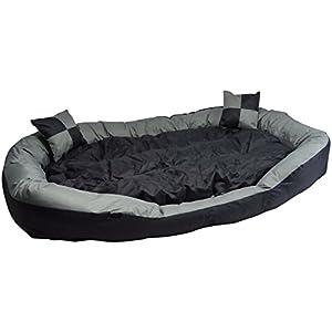 Hossi's Wholesale 2in1 Hundebett XXL - kuscheliges, waschbares Hundekorb Big Tier Sofa - Größe M 85x70x20cm