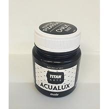 Titan Chalk Paint - Pintura efecto tiza, 811 Negro 100 ml