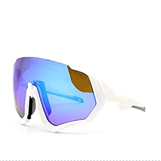 Aili Brand Polarized Cycling Sunglasses Men Outdoor Sport Bike Glasses Bicycle Sunglasses Cycling Glasses Cycling Eyewear 3 Lens,B