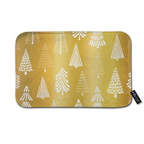 Cleaer Lámina Oro Árbol Navidad Patrón sin Costuras