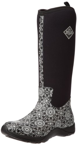 Muck Boots - Arctic Adventure Print, stivali di gomma  da donna Nero (Black (Swirl))