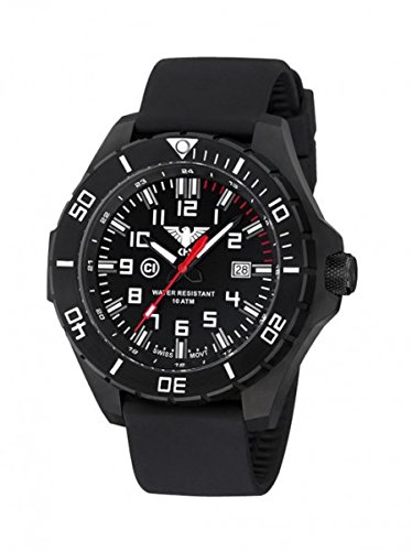 KHS Tactical Mens Watch Landleader Black Steel KHS.LANBS.S