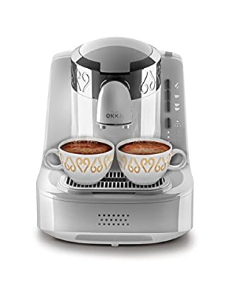 Arzum Okka OK002W Automatic Turkish Coffee Machine, Plastic, 710 W, White