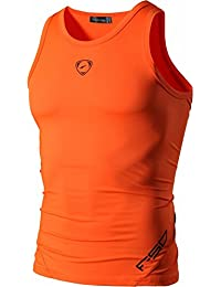 Jeansian Hombres Camiseta De Tirantes Deportivas Wicking Quick Dry Vest Tee Tank Top Verano Correr Training Shirt LSL3306