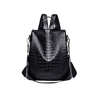 Fjl Fashion Lady Crocodile Pattern Large Capacity Casual Versatile Shoulder Famous Brand,Black