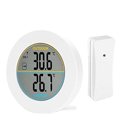 Betuy Digitales Thermometer, Indoor Raumtemperatur Monitor Große LCD Display, Multifunktions Wetterstation Monitor Sensorraum Thermometer für Zu Hause, Schlafzimmer, etc. -