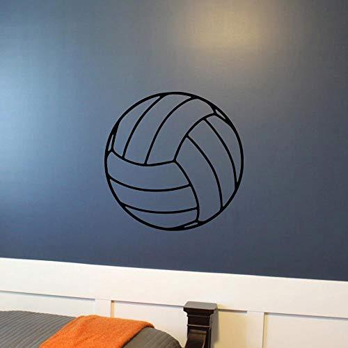 LovelyHomeWJ Volleyball Selbstklebende Wandtattoo Spielzimmer Vinyl Kunstwand Net Beach Pool Sport unter dem Motto Kinder Kinderzimmer Wandtattoo PVC Muster 57x57cm