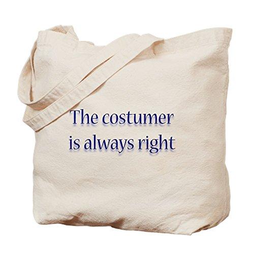 CafePress Tragetasche, Motiv: Costumer is Right, canvas, khaki, S (Benutzerdefinierte Theater Kostüme)