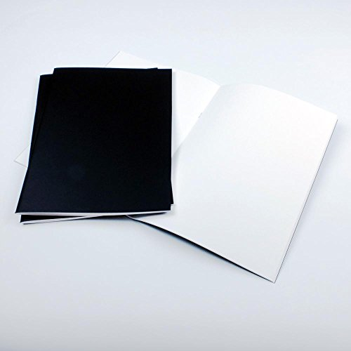 pack-of-3-x-a4-matt-black-cover-starter-sketchbooks-with-140gsm-white-cartridge-paper