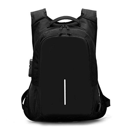 Dragon868 Rucksack Damen Herren Studenten Backpack External Charging Student Sports wasserdichte Tasche Laptop Rucksack (Schwarz)