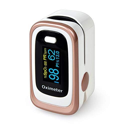 zroven Haushalt Finger Pulsoximeter Leichte, tragbare Blutsauerstoffmonitor SpO2 Herzschlag Sättigung Produkt 2 Farben Optionale Schlafüberwachung