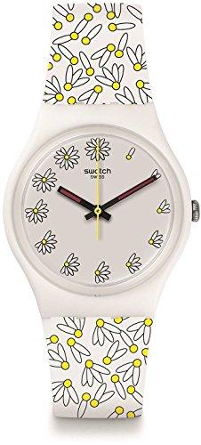 Swatch Damen Analog Quarz Uhr mit Plastik Armband GW174