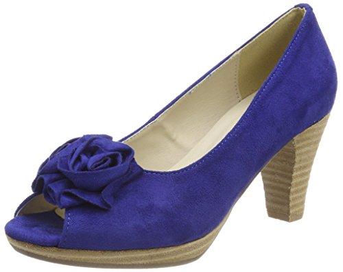 Andrea Conti 0733109, Peeptoe Pumps, Blau (Kobalt 014), 38 EU (5)