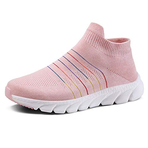 anbiwangluo Damen Trainer Gym Schuhe Leichte Wanderschuhe für Damen Laufsportschuhe Sneakers Rosa 36 EU