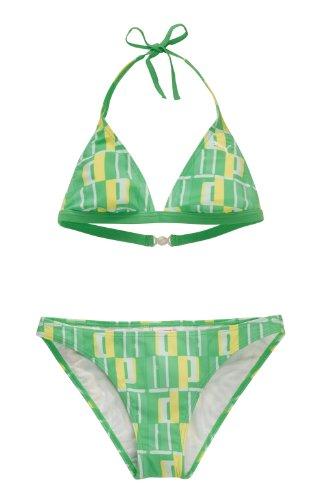 Puma Damen Halterneck Bikini, Island Green, S/B, 815076 03