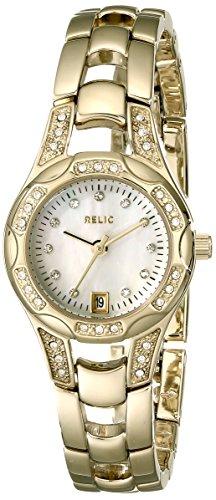 Relic ZR12054 - Reloj de Pulsera Mujer, Acero Inoxidable, Color Oro