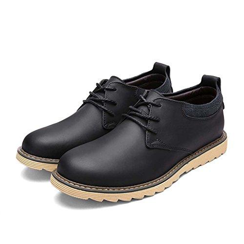 ZXCV Scarpe all'aperto Scarpe casual uomo scarpe in pelle traspirante scarpe in pelle antiscivolo Nero