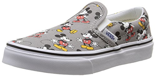 Vans K Classic Slip-On (Disney) Sneakers, Infantile, Grigio (Disney/Mickey Mouse/Frost Gray), 33