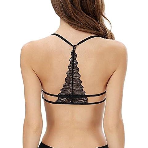 Sannysis ropa interior del sujetador - Mujer Chaleco sin espalda, sujetador de algodón