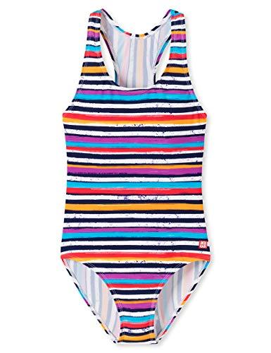 Schiesser Mädchen Aqua Badeanzug Badebekleidungsset, Mehrfarbig (Multicolor 1 904), Herstellergröße: 128 Lila Junior Set