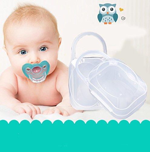Kicode Tragbar Junge Mädchen Säugling Schnuller Nippel Fall Halter für Aufbewahrungsboxen Babyzubehör