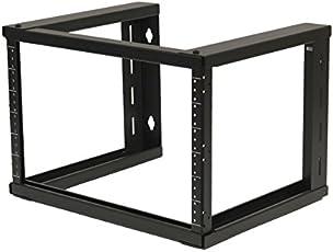 "NavePoint 6U Wall Mount Open Frame 19"" Server Equipment Rack Threaded 15 inch depth Black"