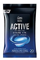 Say Goodbye to Hot Weather Cooling Wipes Very Extra Cool and Antibacterial 1pack-20 Count Absolute Cool