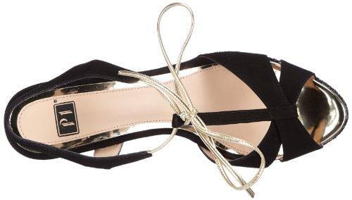 P1 Absinthe, chaussures compensées femme Noir - Noir