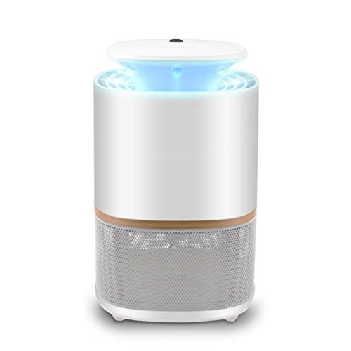 Insektenvernichter Elektrisch NuoYo LED Mückenfalle Indoor Insektenfalle Mit Vakuum Ventilator Zum Fangen von Kleinen Insekten Vernichter 60 m² UV-Licht 3w - Licht-vakuum
