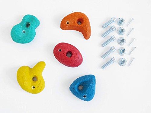 Preisvergleich Produktbild 5 St. Klettersteine klein bunt mit Drehsicherung Set von Gartenpirat®
