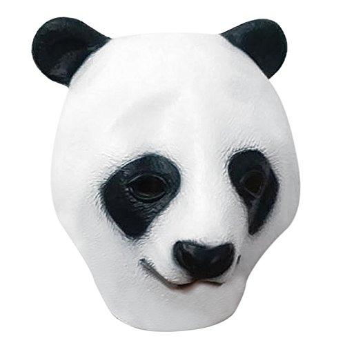 Latex Maske, Deluxe Latex Gummi Vollmaske für Halloween Party Karneval (Latex Panda Maske Deluxe)