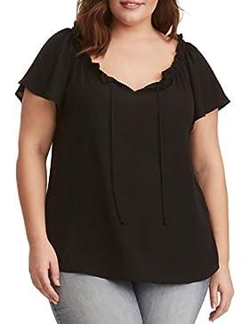 FAMILIZO Camisetas Mujer Tallas Grandes, Camisetas Mujer Verano Blusa Mujer Elegante Camisetas Mujer Manga Corta...