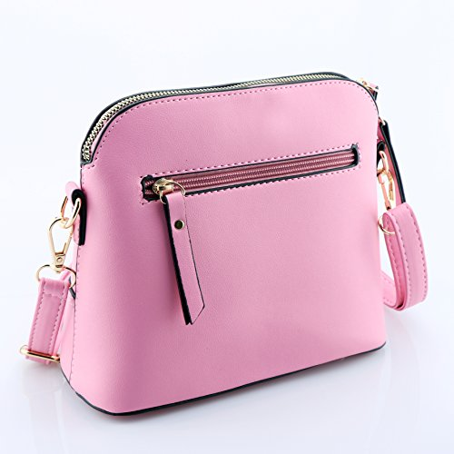 e4ac3ec194d5c ... Kleine Umhängetaschen Leder Damen Günstige Handtaschen Schule Elegant  Shopper Rosa ...