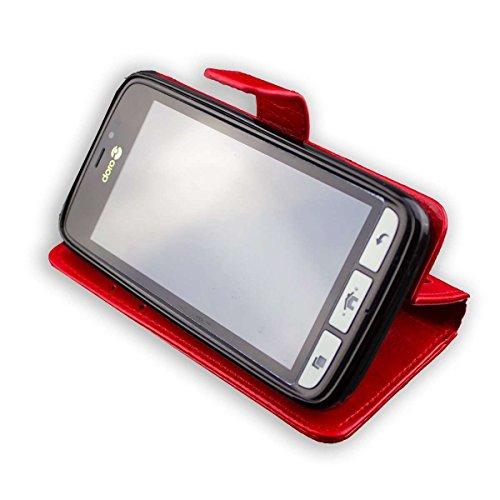 caseroxx Tasche Case Hülle Bookstyle-Case für Doro 8030/8031 in rot