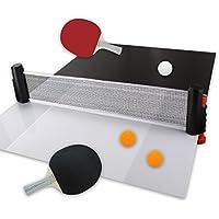"""6 teiliges Tischtennis Set """"Funster"""" mit Schnellspann und Aufrollfunktion"""