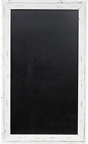 Lavagna da parete verticale/orizzontale con cornice in legno finitura bianca anticata 60x3x100 cm