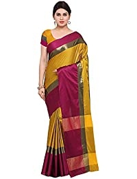 Craftsvilla Women's Art Silk Saree Multicolor With Blouse Piece