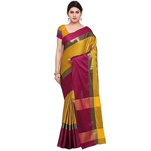 Craftsvilla Women's Art Silk saree Multicolor with Blouse Piece