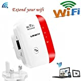 URANT Wireless Network Extender WiFi Repeater WLAN Verstärker Mini Access Point 2.4GHz mit WPS Funktion Willigt IEEE802.11n/g/b Rot