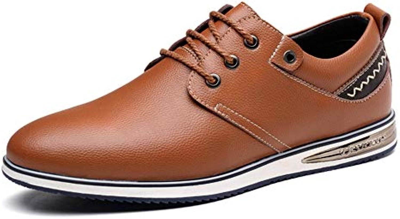 Hongjun-scarpe Scarpe Uomo 2018, Stringate semplici comode da da da Uomo in Stile Oxford Four Seasons (Coloree   Marronee... | Fashionable  | Uomini/Donne Scarpa  7bd18d