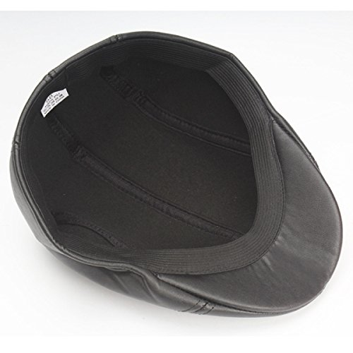 Automne Et L'hiver Les Hommes Et Les Femmes Le Cuir Le Chapeau Ainsi Que De Velours Chapeau Chaud Chapeau Avant Bouchon De Plein Air Voyage Black