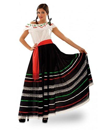 Partychimp 83-01100 - Mexikanerin, Damenkostüm, One-size, (Mariachi Kleid)