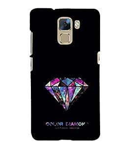 EPICCASE Color Diamond Mobile Back Case Cover For Huawei Honor 7 (Designer Case)