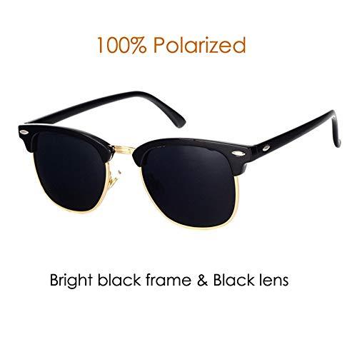 Sonnenbrillen. Klassische Marke Polarisierte Sonnenbrillen Männer Frauen Die Hälfte Metall Spiegel Unisex Sonnenbrille Uv400 Outdoor Reisen Sommer Staub Schwarz