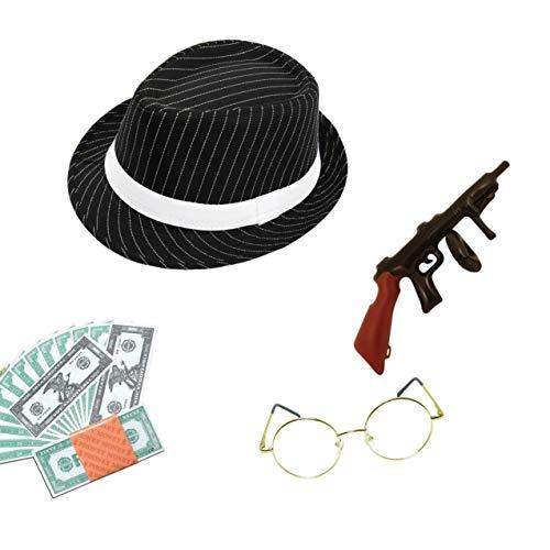 SeeMeInThat Gangster Tommy Shelby Hirschkostüm, für Erwachsene, Peaky Blinder, Flapper, Reichhaltiges Kostüm, Zubehör für italienische Mobster 1920er-Jahre, ()