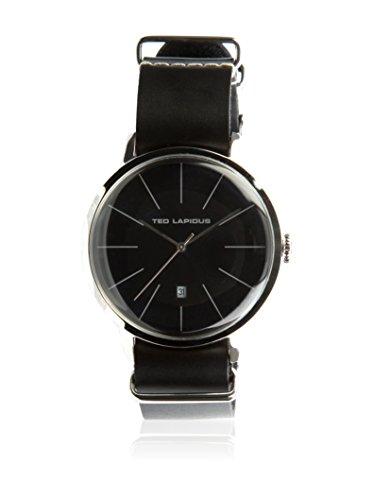 Ted Lapidus - 5129802 - Montre Homme - Quartz Analogique - Cadran Noir - Bracelet Cuir Noir
