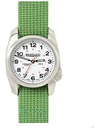 Bertucci 10016Hombres de la selva verde banda de nylon esfera blanca de acero inoxidable reloj inteligente