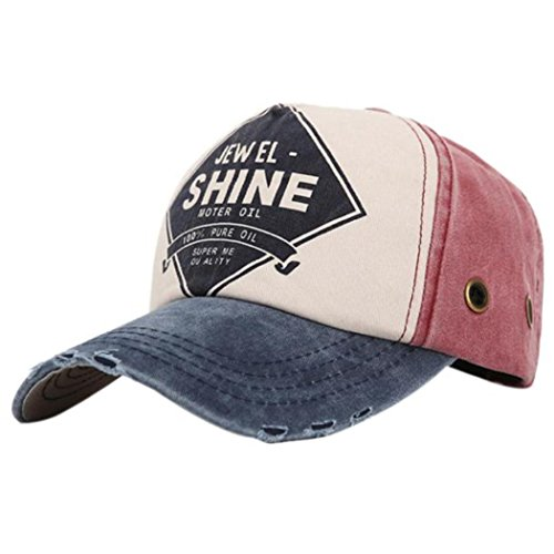 vovotrade Snapback gorra de béisbol sarga de algodón de colores unisex (azul)